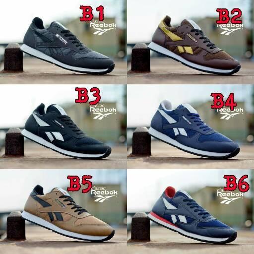 920e57ce8539 Jual Sepatu Sneakers Sport Pria Reebok Classic Man Olahraga Sekolah
