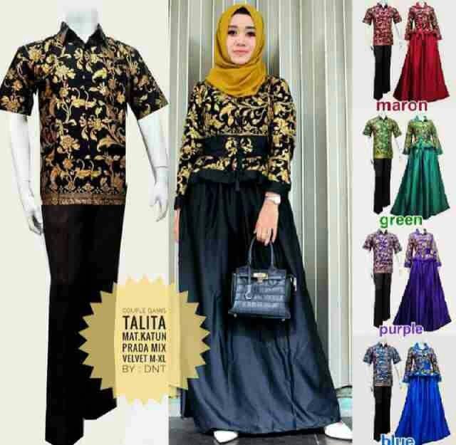 harga Couple gamis talita - sarimbit batik solo - couple hijab batik Tokopedia.com
