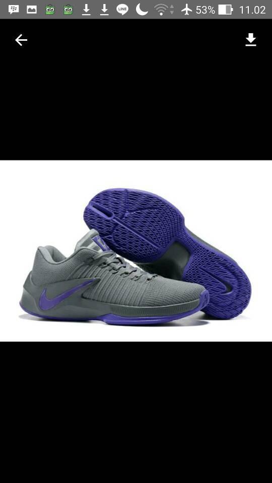 harga Sepatu basket nike zoom clearout low flyknit grey purple Tokopedia.com c776106db2