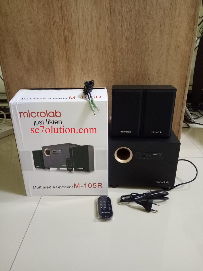 harga Microlab multimedia speakers 2.1 stereo with usb & sd card (m-105r) Tokopedia.com