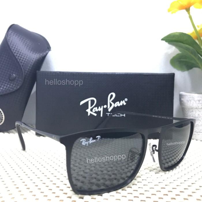 Kacamata Rayban 3550 Full Black Polarized   sunglasses kaca mata 2911f04e90