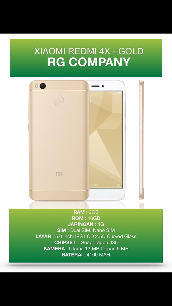 Jual Hot Xiaomi Redmi 4x Ram 2gb 16gb Gold Garansi 1 Tahun