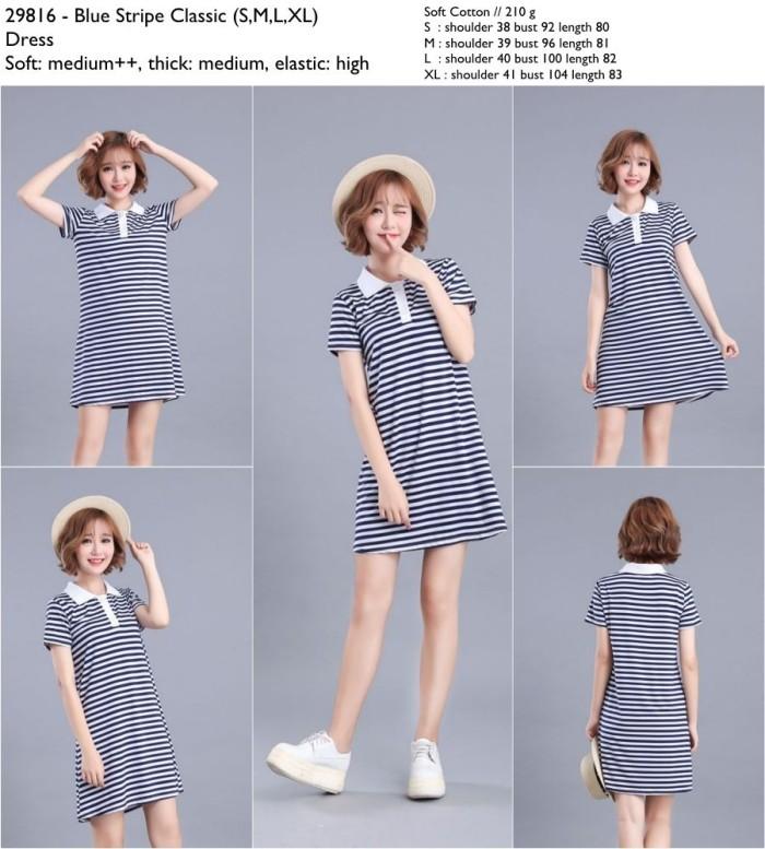 harga Blue stripe classic dress (smlxl) - 29816 Tokopedia.com