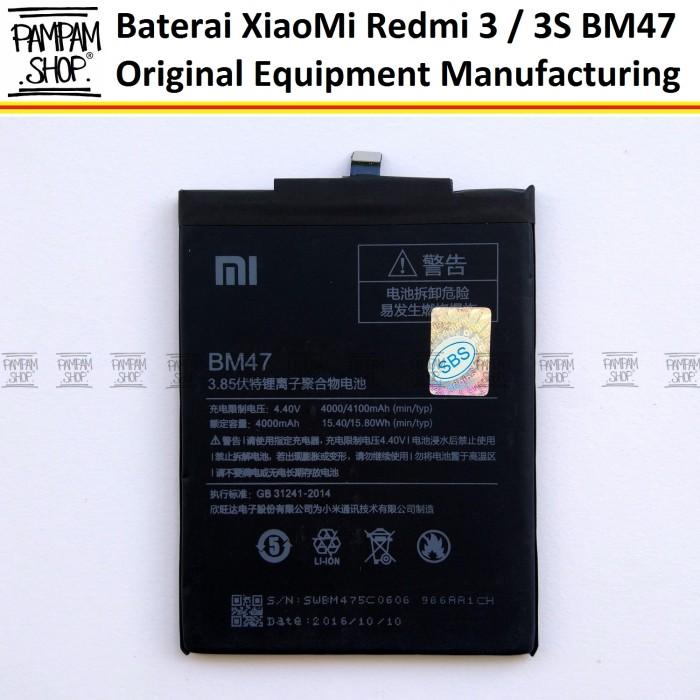 harga Baterai handphone xiaomi redmi 3 3s bm47 original oem | bm 47, xiao mi Tokopedia.com