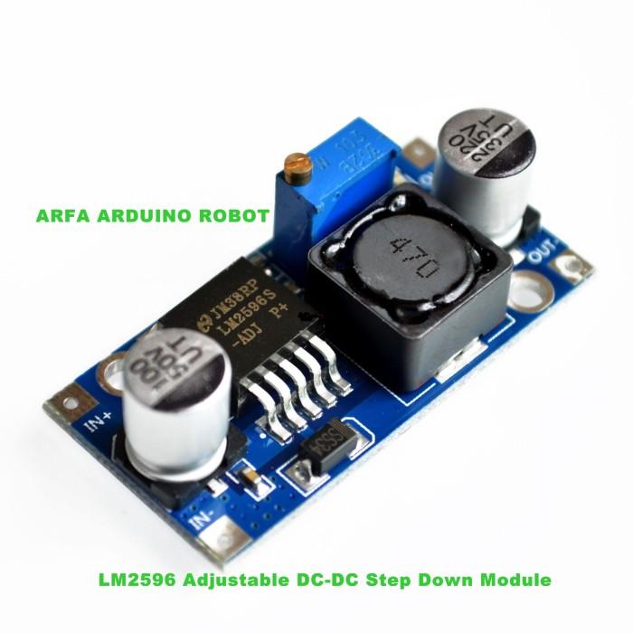 Foto Produk LM2596 Adjustable DC-DC Step Down Module dari Arfa Arduino Robot