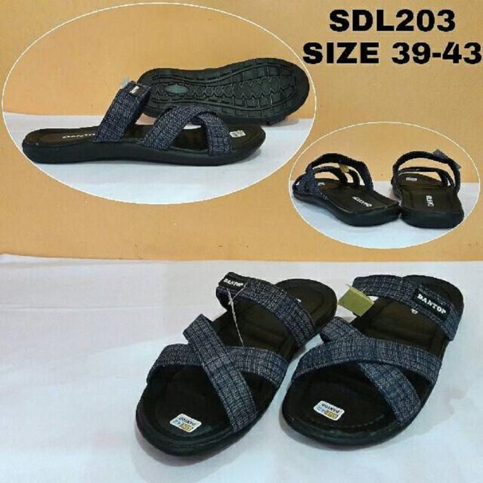 harga Sandal casual pria dantop sanda slop cowok slip on sdl203 / sepatu Tokopedia.com