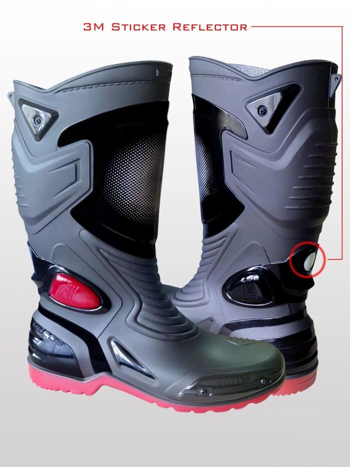 Jual Sepatu Karet PVC Anti Tembus Air Banjir Hujan AP BOOTS MOTO 3 ... a7847cda76
