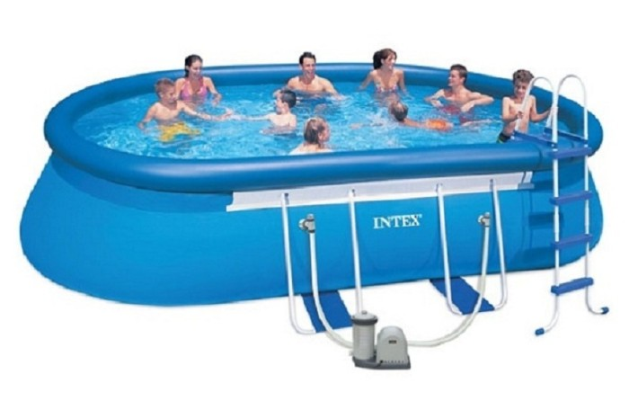 jual kolam renang oval frame pool set 610 x 366 x 122 intex 28194 family posko store tokopedia. Black Bedroom Furniture Sets. Home Design Ideas