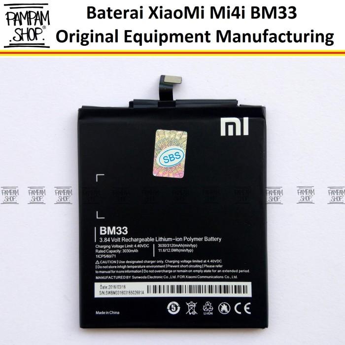 harga Baterai handphone xiaomi mi4i mi 4i bm33 original oem | bm 33 xiao mi Tokopedia.com