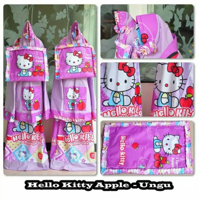 Harga Madeena Mukena Anak Karakter Hello Kitty Summer Pink Source · mukena anak Hk apple ungu