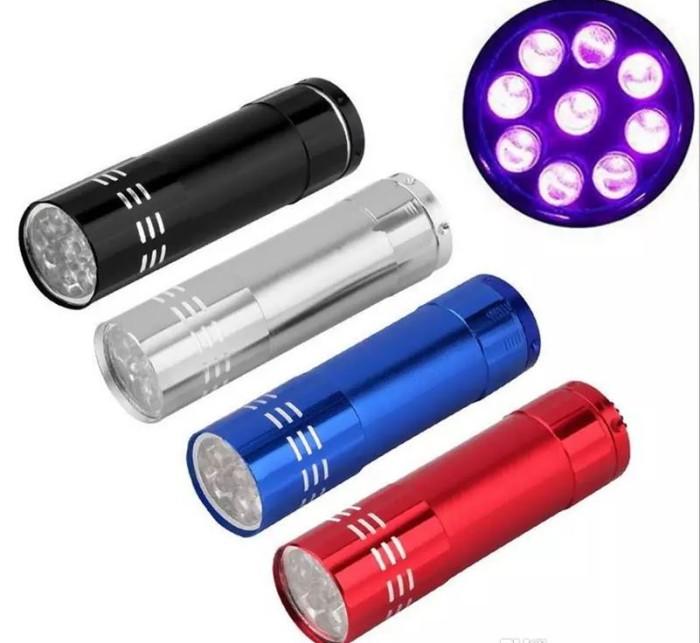 harga Senter ultraviolet 9 led uv flashlight - garansi Tokopedia.com