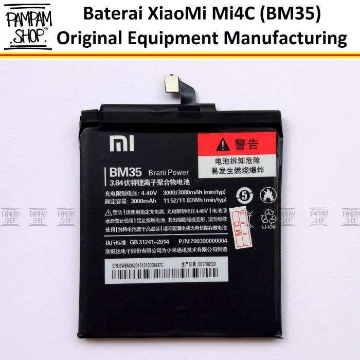 harga Baterai handphone xiaomi mi4c mi 4c bm35 original oem | xiao mi bm 35 Tokopedia.com