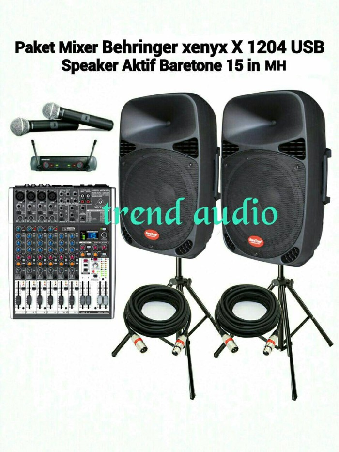 harga Murah paket sound karaoke professional mixer behringer Tokopedia.com