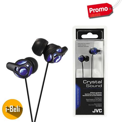 Jual Original JVC HA-FX40 Blue Clarity Earphone - Garansi Resmi 2