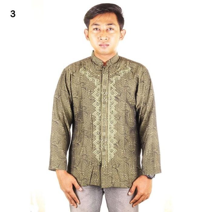 Baju koko bordir muslim fadel - jaguar - warna 3