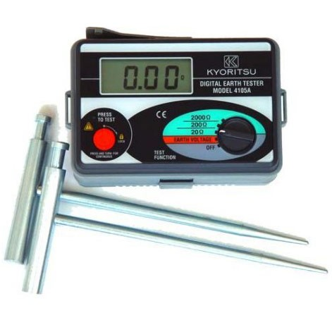 KYORITSU 4105 A DIGITAL EARTH TESTER