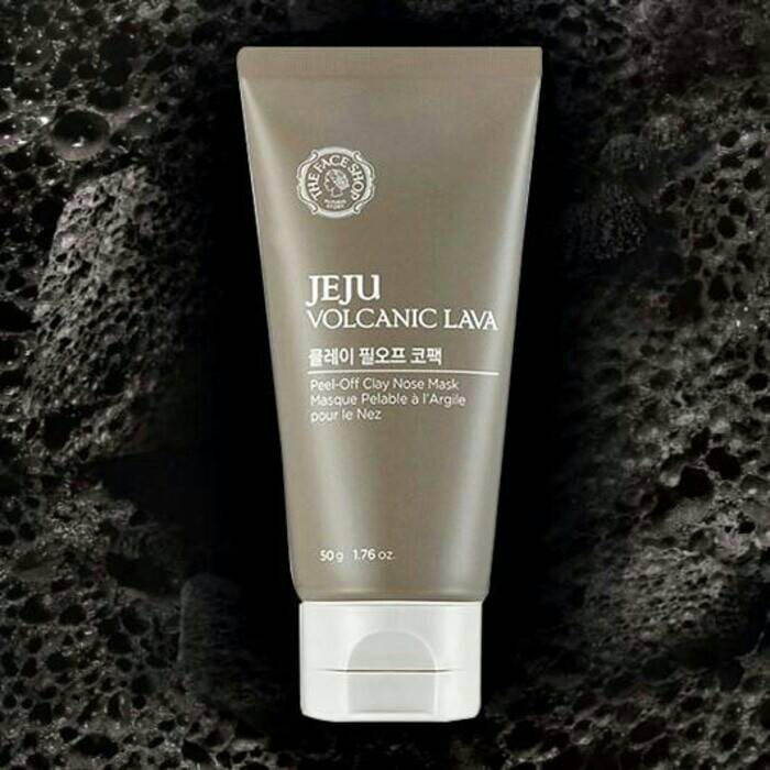 The faceshop jeju volcanic lava peel off clay nose pack