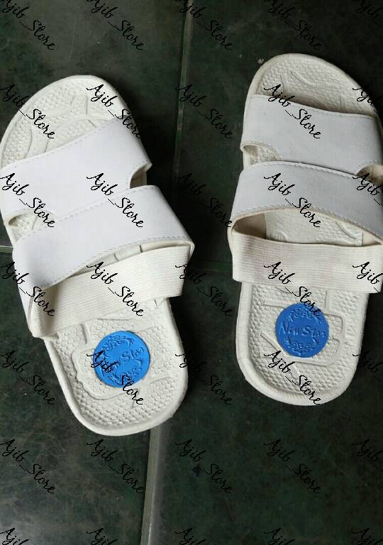 Jual Sepatu Sendal Sandal Pria Wanita Haji Warna Putih