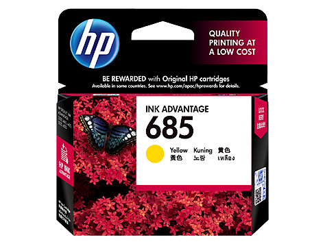 harga Tinta hp original 685-cz124aa yellow ink cartridge Tokopedia.com