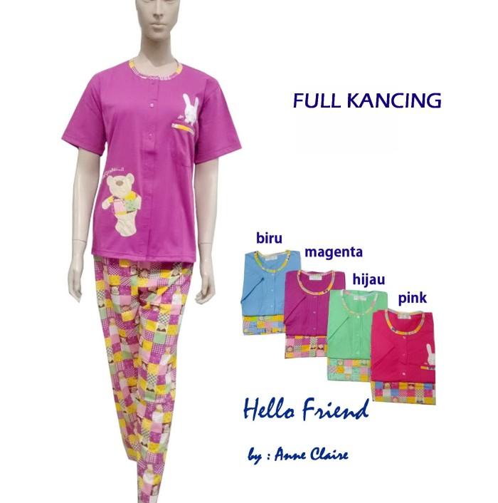 Foto Produk HELLO FRIEND Setelan Full Kancing/Busui lengan Pendek Anne Claire dari Sleepwear-SHOP