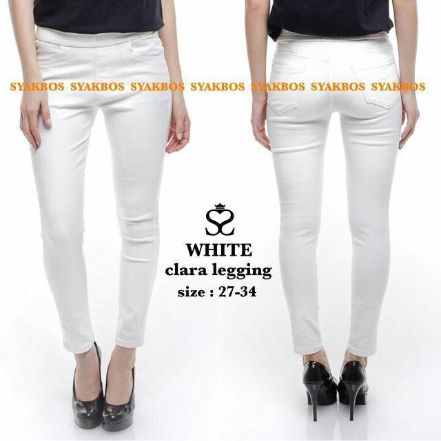 Jual Celana Legging Jeans White Clara Leging Putih Wanita Ce Diskon Jakarta Barat Trade Mart Tokopedia
