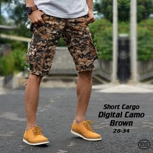 harga Celana pendek kargo army camo digital coklat / pdl / gunung / short Tokopedia.com