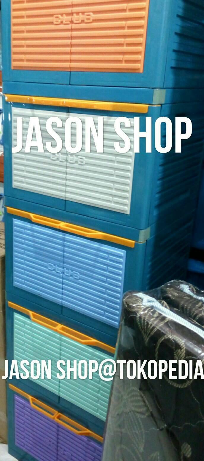Jual Lemari Plastik Kontainer Serbaguna Club Polos Susun 5 Jason Miniclub 4 Cabinet Plasti