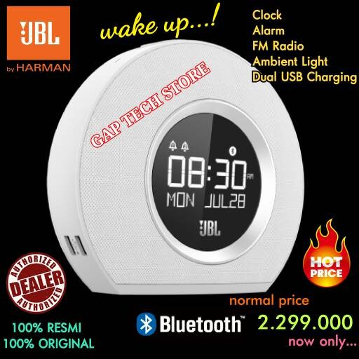 harga Jbl horizon speaker bluetooth clock radio with ambient light original Tokopedia.com