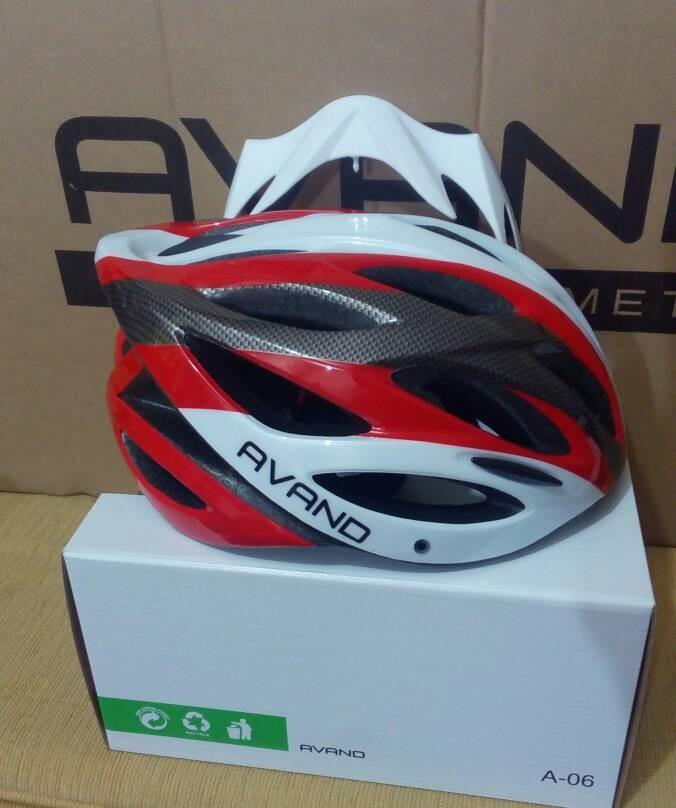Helm sepeda avand lampu