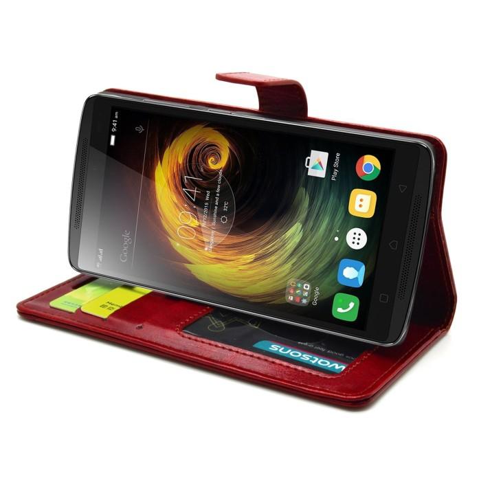 timeless design ef578 ba8eb Jual Leather Flip Cover Wallet Lenovo vibe K4 Note A7010 Case dompet kulit  - royal casing   Tokopedia