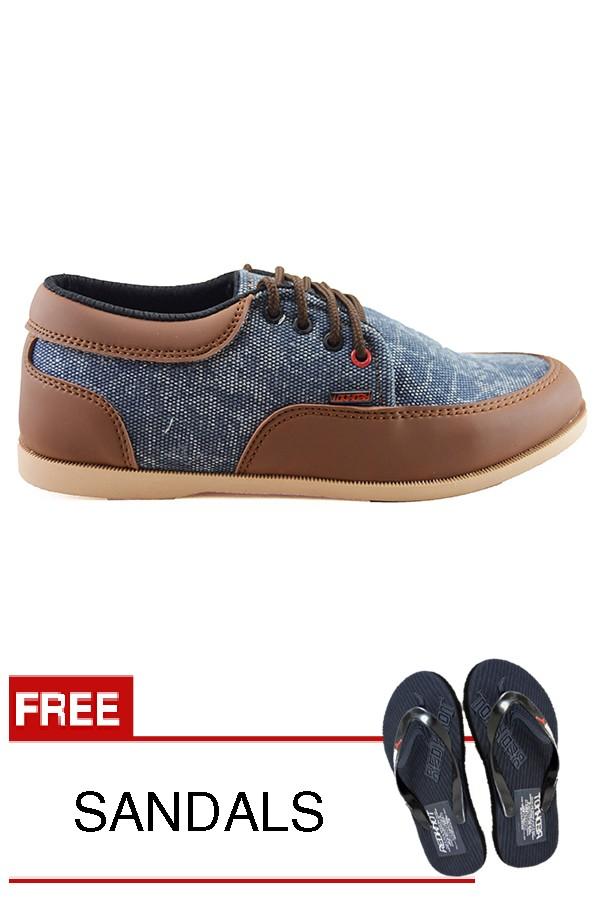 harga Sepatu pria santai redknot counting blue denim tan tali coklat 15 Tokopedia.com