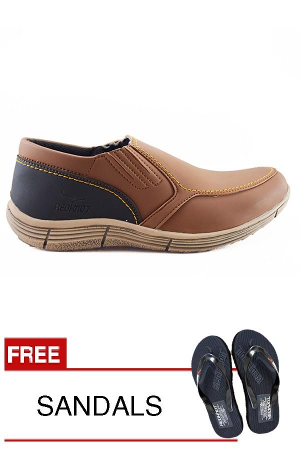harga Sepatu pria loafers santai kampus dan kerja redknot grovers tan murah Tokopedia.com