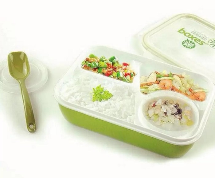 Yooyee lunch box 4 sekat bento #415 kotak bekal makan + tempat sup