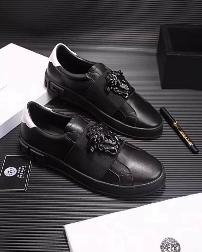 Jual Sepatu versace kw pria cowok mirror quality 1 1 ori leather ... 92247989e9