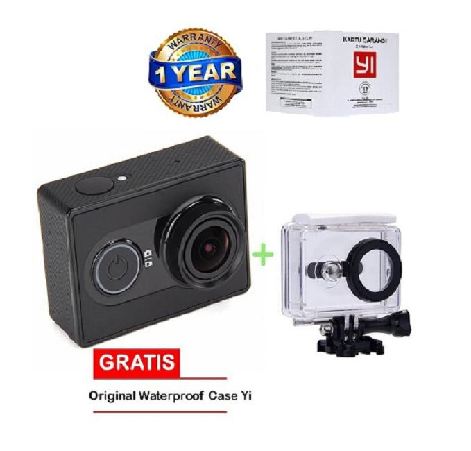 Xiaomi Yi Action Camera - 16 MP - International Edition- Hitam + Gra