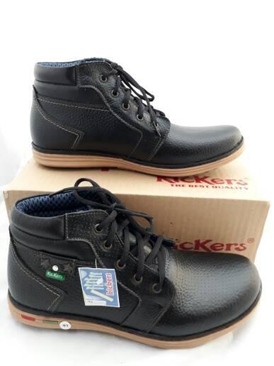 harga Sepatu boot pria kulit asli kickers casual touring bt01 Tokopedia.com