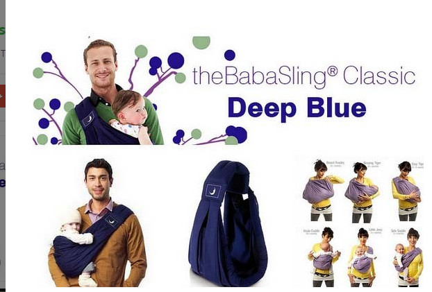 Jual The Baba Sling Classic 5in1 Baby Carrier Deep Blue Gendongan
