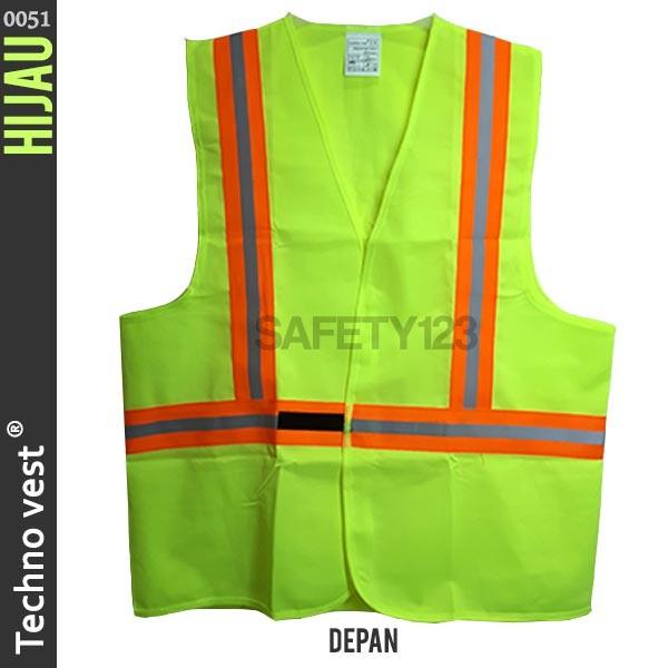 Jual Techno vest 0051 Rompi Jaring Safety Scotlite Scotlight Hijau ... 9c058b8521