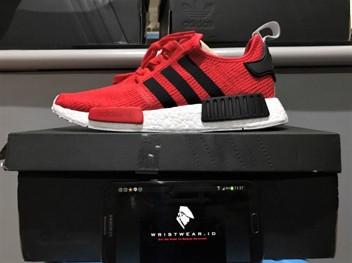 10d995c6b2cdf Jual Adidas NMD R1 PK Runner Core Red Nomad Black Original