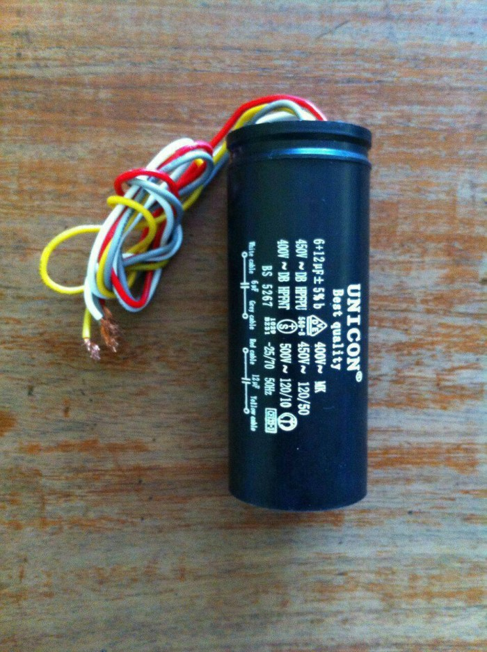 harga Kapasitor mesin cuci 6+12uf unicorn Tokopedia.com