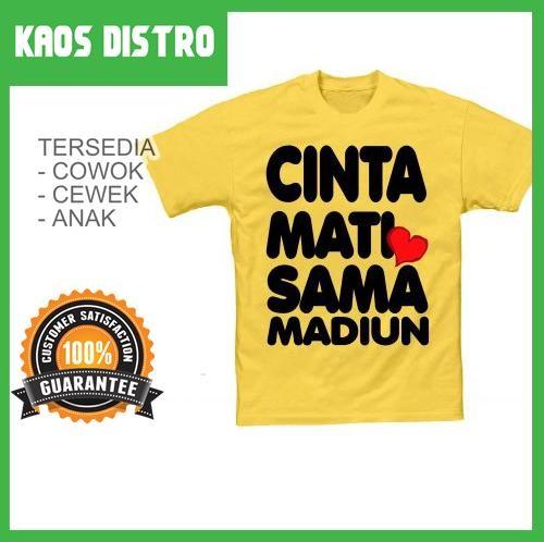 Foto Produk Kaos Cinta Mati Sama MADIUN SV-MAD25 dari Jualan Kaos