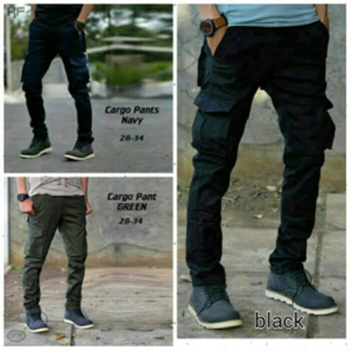 Celana kanvas pria/cargo/kargo/slim fit/bawahan/cowok/celana panjang