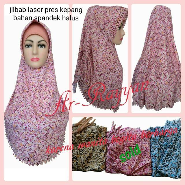 Jual Jilbab Laser Pita Kepang Jakarta Fariza Hijab Tokopedia