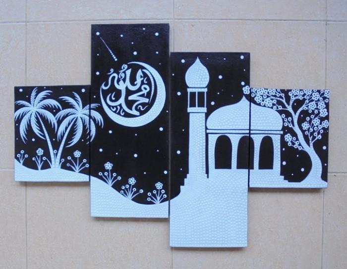 Jual Lukisan Masjid Kaligrafi P4 150 Kab Gianyar Sukawati