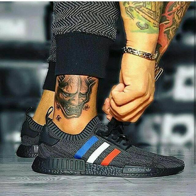 76dafe4af ... harga Adidas nmd tricolor primeknit all black premium original sepatu  gym Tokopedia.com