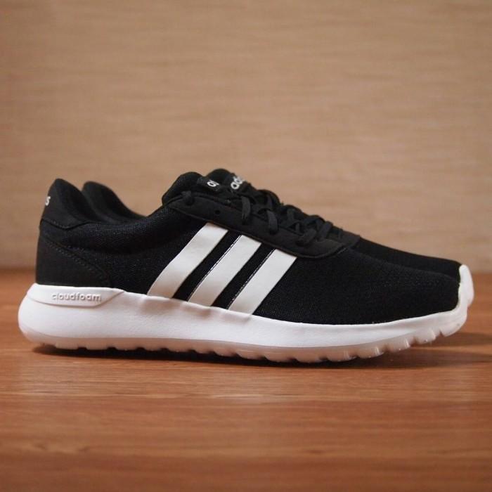 23db04e75c0ca ... italy sepatu adidas original neo cloudfoam lite racer black white ab570  9368c