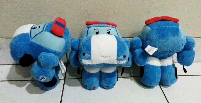 harga Boneka mainan mobil robot poly robocar poli biru bagus halus lembut Tokopedia.com