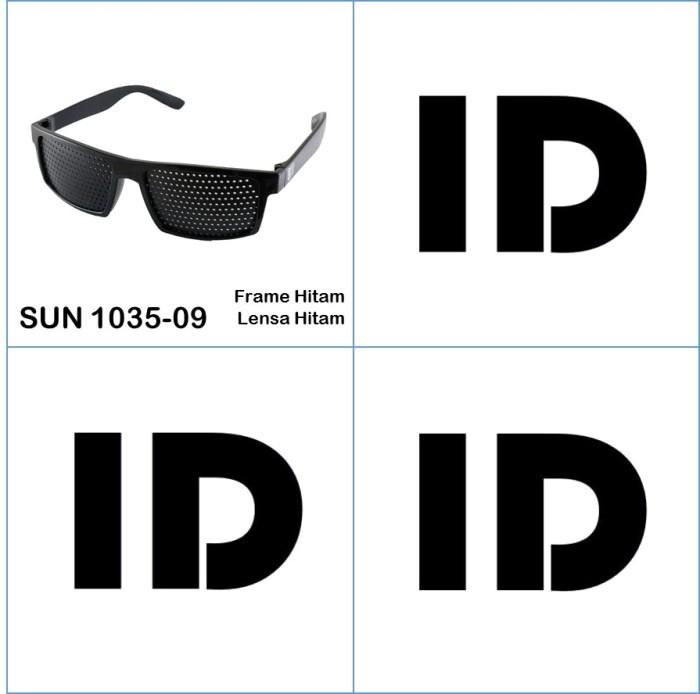 Id Sunglass Kacamata Pinhole Terapi Pria Wanita Frame Hitam Lensa ... c1ed4efc8b