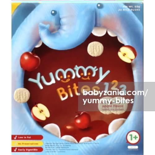 harga Yummy bites for toddler 123 applephant 12m+ - apple flavor Tokopedia.com