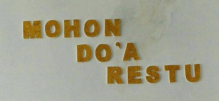 Banner Pernikahan Mohon Doa Restu